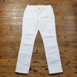 Old Navy Curvy Profile Winter White Jeans